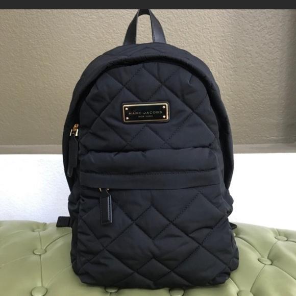 e46cb0b24 Marc Jacobs Bags | Quilted Nylon Black Backpack | Poshmark